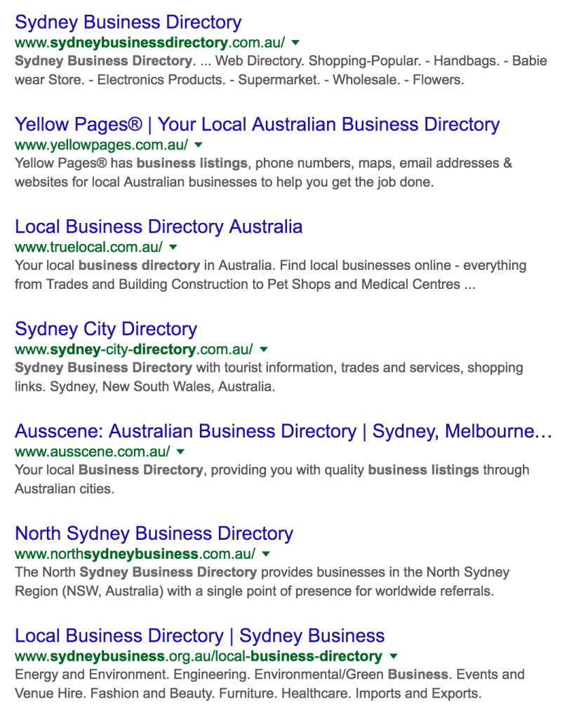 Search results for business directory search